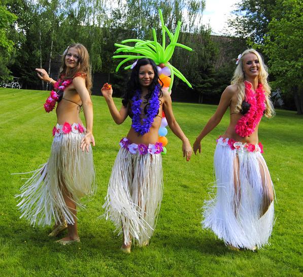 Гавайская вечеринка, хула, шоу-балет, г. Москва. Гавайские танцы.