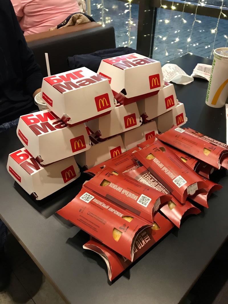 QR-Коды на бесплатную еду в Макдоналдс