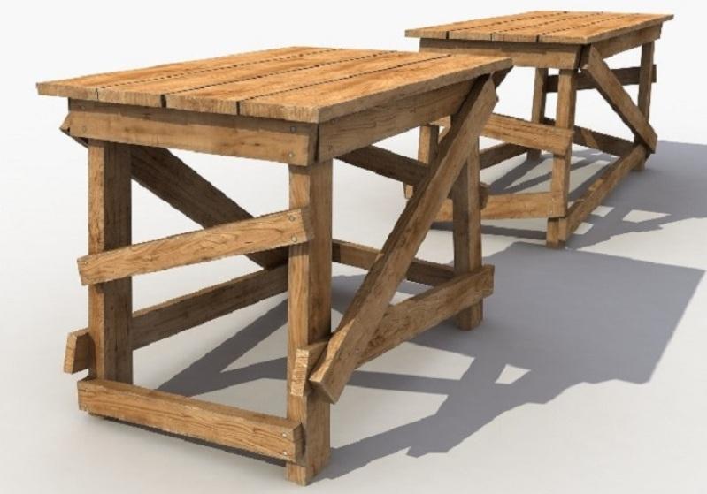 Тольятти.  Прокат деревянных козел для ремонта помещений.